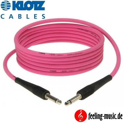 Klotz - Instrumentenkabel 6,0m pink - KIK6.0PPPI - feeling-music